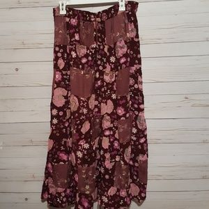 Goood Times Maxi Patchwork skirt One Size